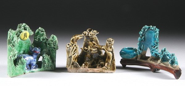 11: THREE CHINESE SCHOLAR'S OBJECTS, Kangxi period (166