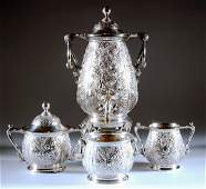 427: FOUR PIECE AMERICAN SILVER PLATED COFFEE SERVICE ,