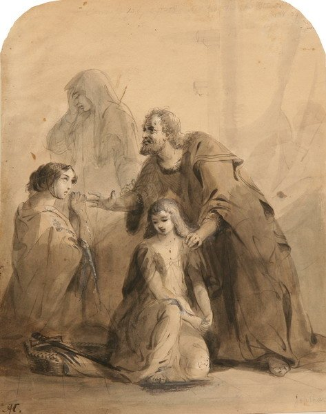 1552: ALFRED JACOB MILLER (American, 1810-1874). JEPTHA