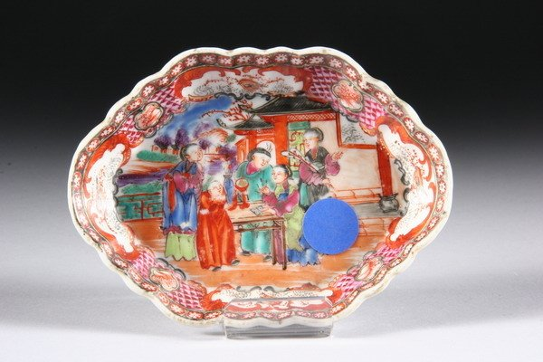 10: CHINESE MANDARIN PALETTE SPOON TRAY, 18th century.