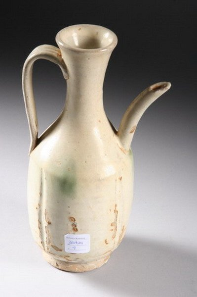6: CHINESE POTTERY EWER, Liao-Yuan dynasty. - 10 in. hi - 3