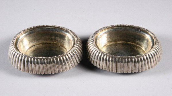 524: PAIR RUSSIAN SILVER MASTER SALTS, By ND, 1834, Mos