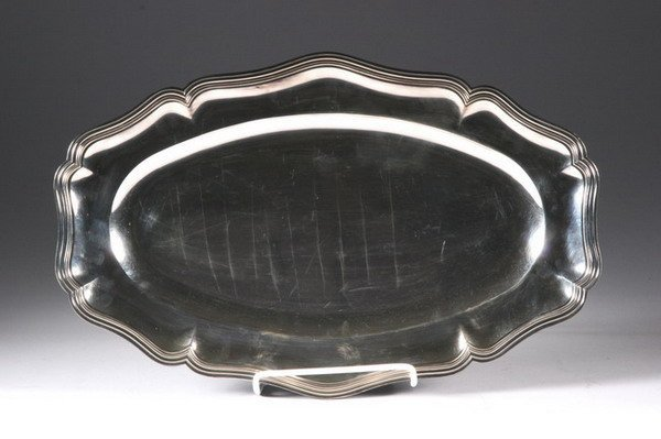 530: CONTINENTAL SILVER-PLATED TRAY.