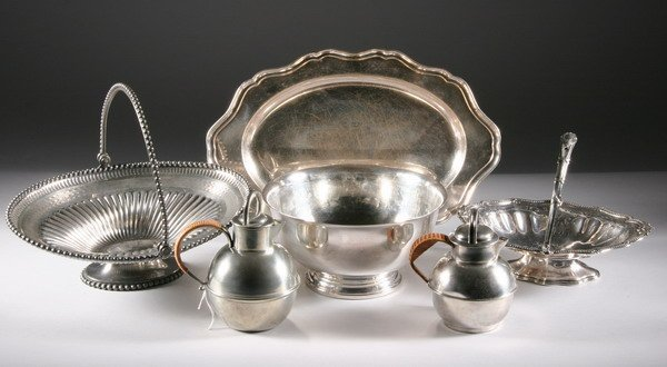 534: GROUP SILVERPLATED HOLLOWWARE. - 15 1/2 in. long,