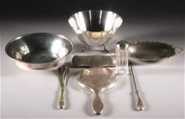 547: GROUP AMERICAN AND ENGLISH SILVER HOLLOWWARE. - 24