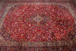 983: IRANIAN KASHAN RUG, - APp. 12 ftt. 8in. x 9 ft. 6
