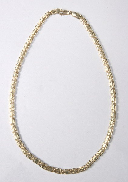 1020: 14K YELLOW GOLD NECKLACE.