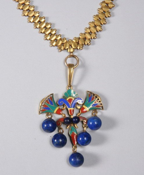 1036: EGYPTIAN REVIVAL NECKLACE.