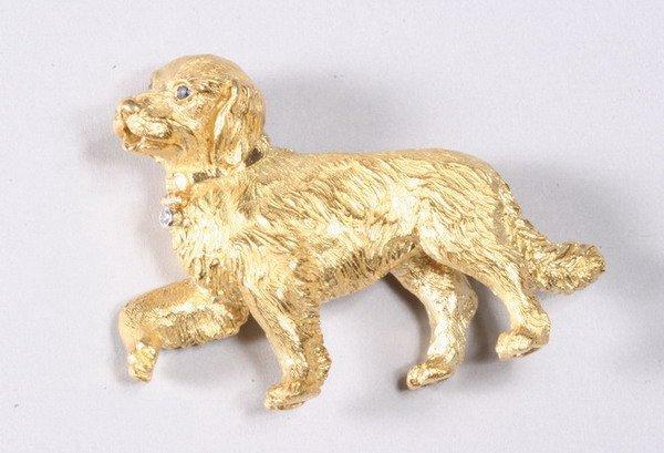 1039: 18K YELLOW GOLD PIN, TIFFANY & CO.