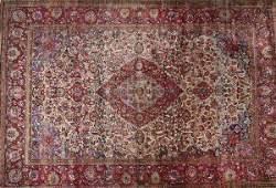 1137 ANTIQUE PERSIAN KASHAN SILK RUG Circa 1900  Ap
