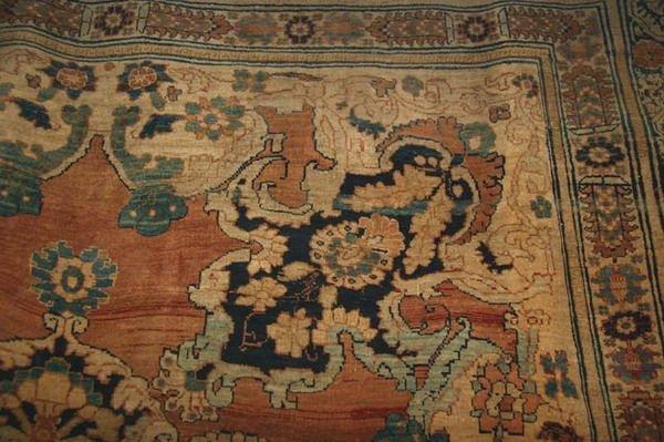 1156: TURKISH SILK RUG WITH DRAGON AND PHOENIX MOTIFS.  - 5