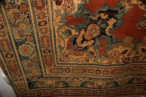 1156: TURKISH SILK RUG WITH DRAGON AND PHOENIX MOTIFS.  - 6