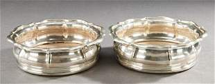 A PAIR OF WILLIAM IV SILVER WINE COASTERS. Probably
