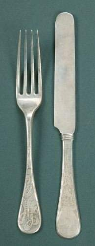 TWELVE TIFFANY & CO. SILVER LUNCHEON FORKS AND TWEL