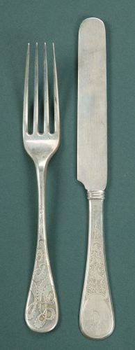 11: TWELVE TIFFANY & CO. SILVER LUNCHEON FORKS AND TWEL