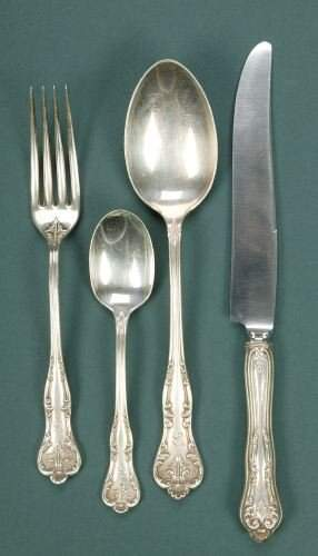 A THIRTY-NINE PIECE TOWLE SILVER PARTIAL FLATWARE S