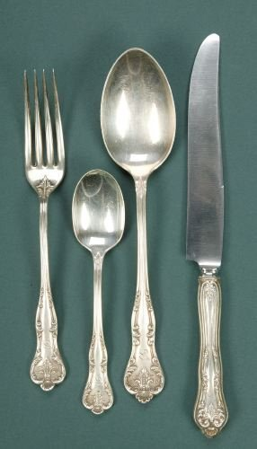 13: A THIRTY-NINE PIECE TOWLE SILVER PARTIAL FLATWARE S