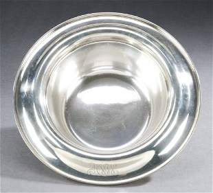 A KIRK SILVER HOLLOWARE BOWL, circa 1925, marked S