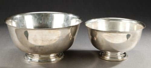 22: TWO REVERE STYLE STERLING BOWLS. - 61 oz. 8 dwt. to