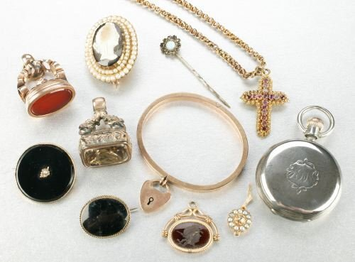 603: A GROUP OF MISCELLANEOUS JEWELRY.