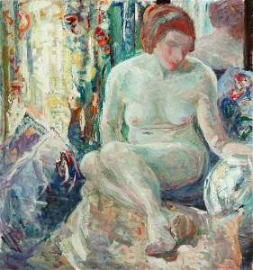 1100: SARAH SEWELL MUNROE (American, 1870-1946). SEATED