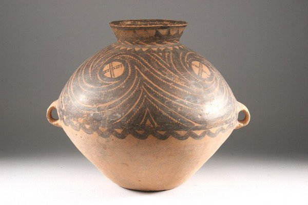 1: CHINESE NEOLITHIC POTTERY VESSEL. Majiayao Culture,