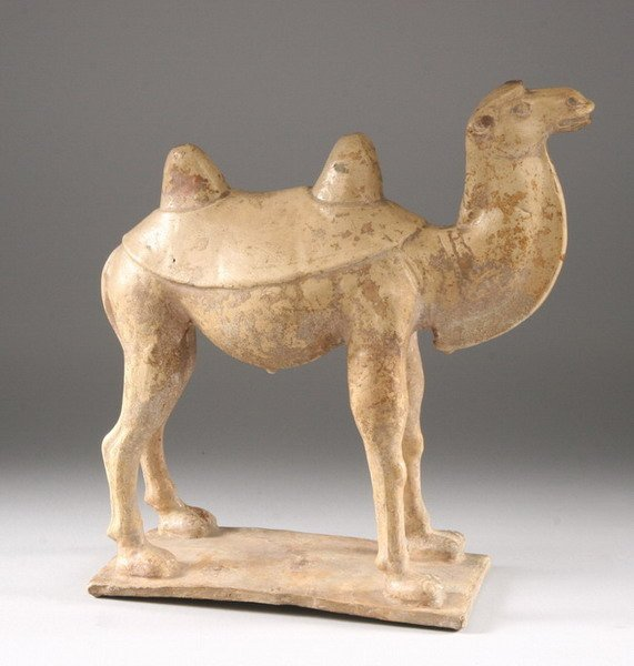 6: CHINESE STRAW GLAZED EARTHENWARE FIGURE OF CAMEL, Su