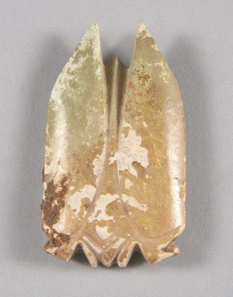 12: CHINESE CALCIFIED JADE CICADA, Han dynasty style. -
