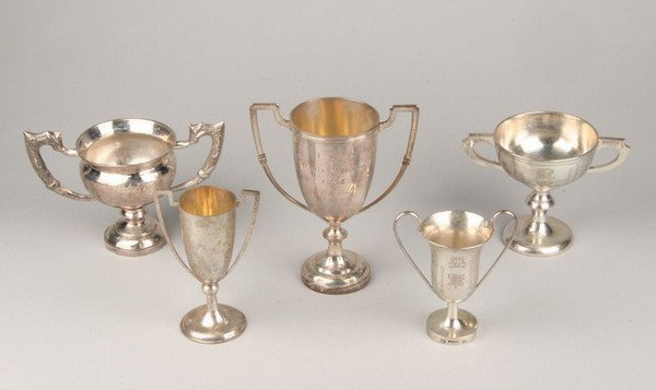 689: 26 ANGLO-CHINESE SILVER TROPHIES. - 68 oz., 6 dwt.