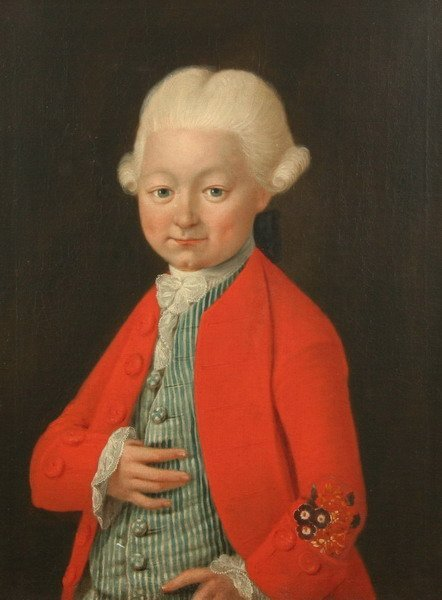 1752: CONTINENTAL SCHOOL (18th century). BOY IN WIG AND