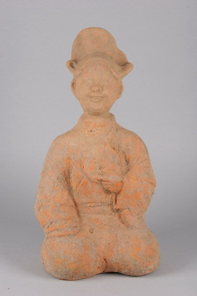 1: CHINESE POTTERY FIGURE OF A STORY TELLER, Han Dynast