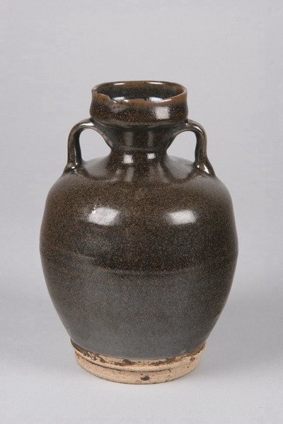 7: CHINESE BROWN GLAZED STONEWARE EWER, possibly Ming d