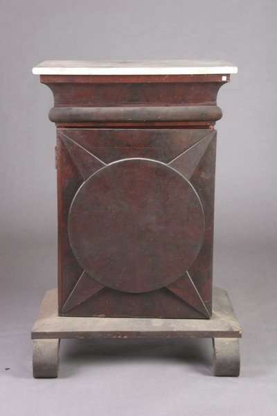 709: LATE EMPIRE MAHOGANY MARBLE-TOPPED CABINET. - 40 3