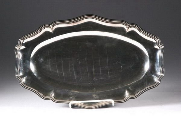 754: CONTINENTAL SILVER PLATED TRAY. - 19 1/4 in. x 12