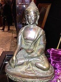6: Antique bronze Shakyamuni buddha