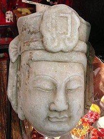 12: Chinese Marble buddha avalokitshvara statue