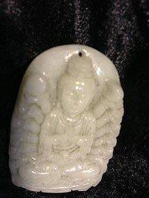 14: Jade kuan yin bodhisattva carving