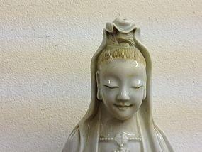 18: Chinese blanc - de - chine Guanyin qing dynasty