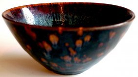 1: A Chinese Temmokko style bowl possibly Sung Dynasty