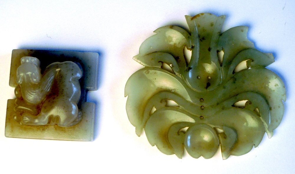 12: A C19th Chinese jade square seal carved with a Kyli