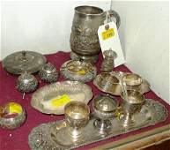 A miscellaneous collection of Burmese 925 stamped silve