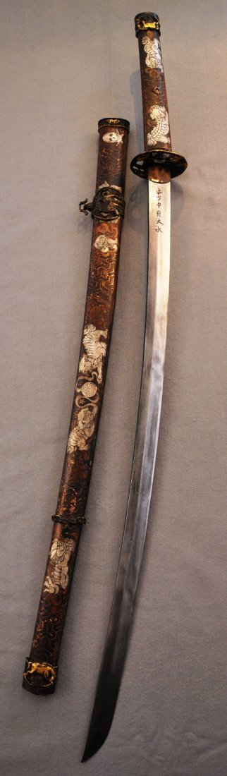 A Japanese style noble warrior sword