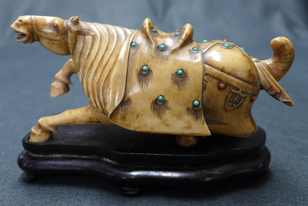 An C18th/C19th style Chinese Ivory Carved Horse