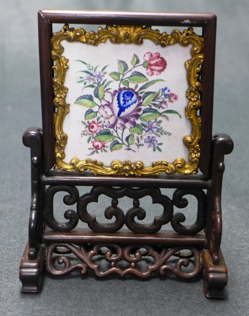 An C18th/C19th Chinese Canton Export Enamel Plaque