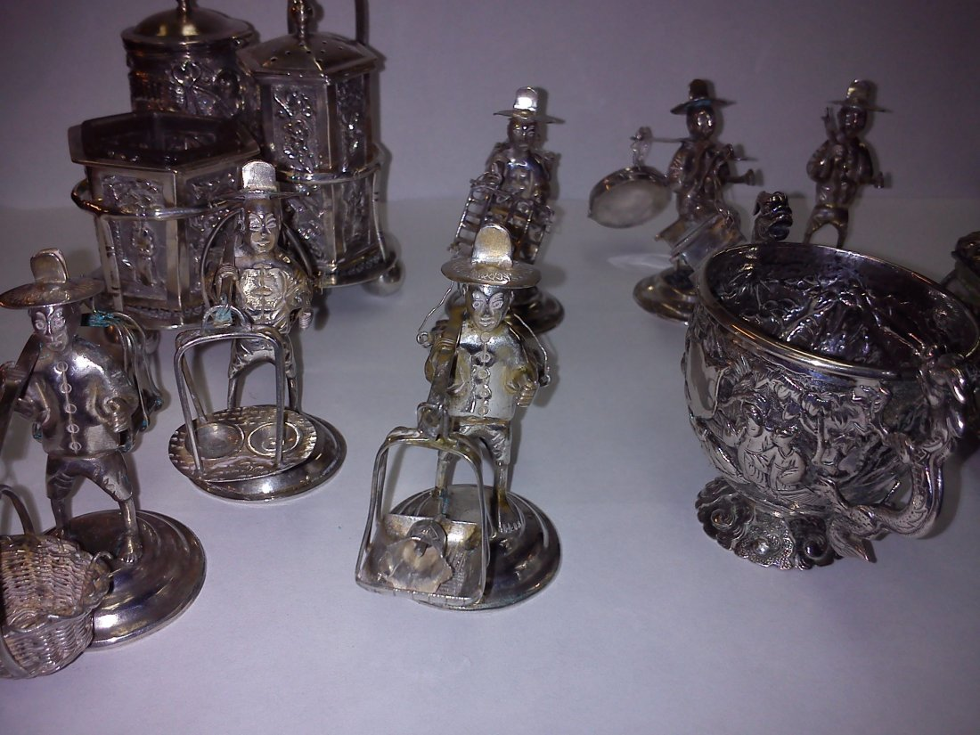 A Collection Of Chinese Export Silver Inc. Sunshing