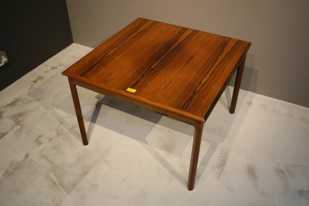 A Danish rosewood square side table c1960s Height 48cm