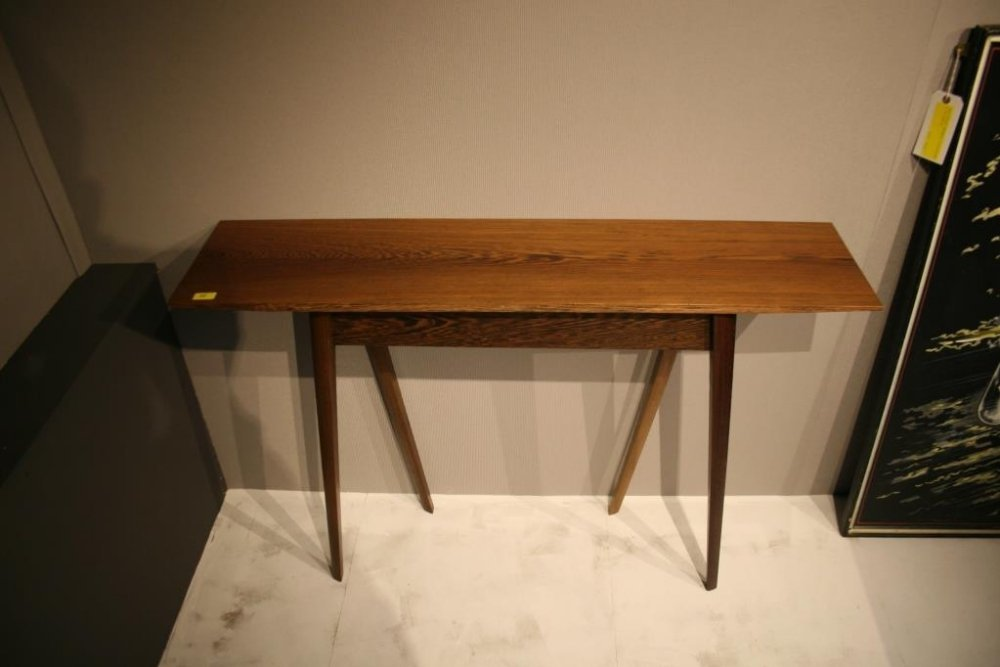 A solid wenge console table Height 78cm length 120cm de