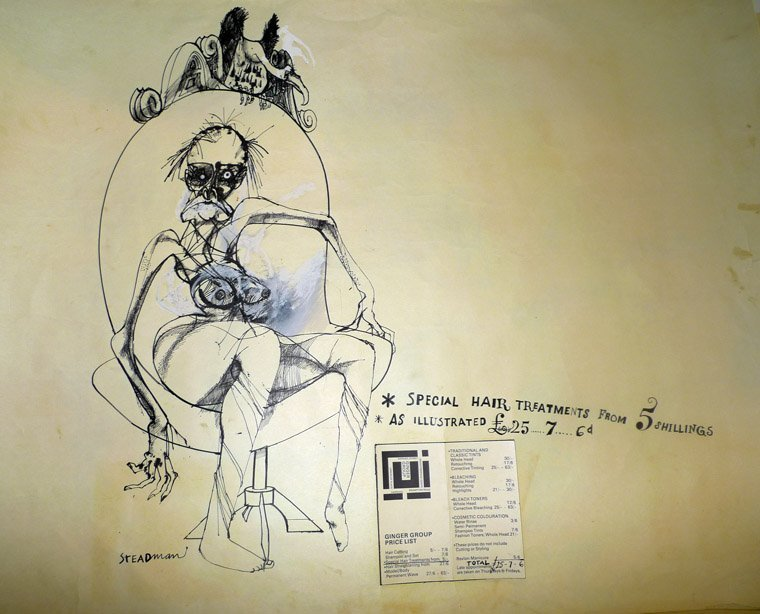 A collection of 6 studies by Ralph Steadman in pencil,