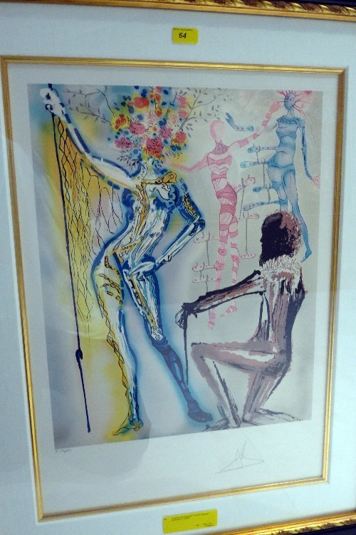 A signed Dali lithograph ''Fashion Designer'' - Numbere