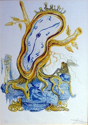 A signed Dali lithograph ''Stillness of Time'' - Number